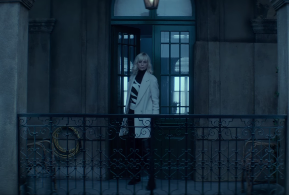 striped sweater from atomic blonde