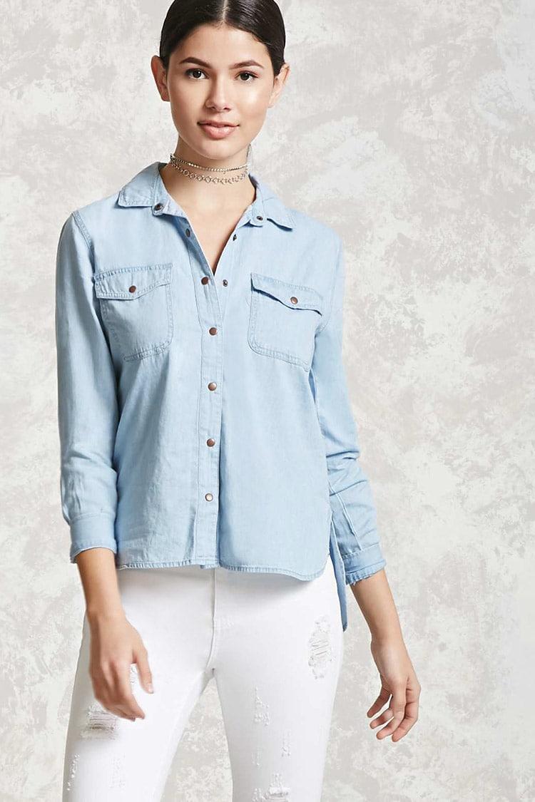 Chambray Pocket Shirt, $19.90