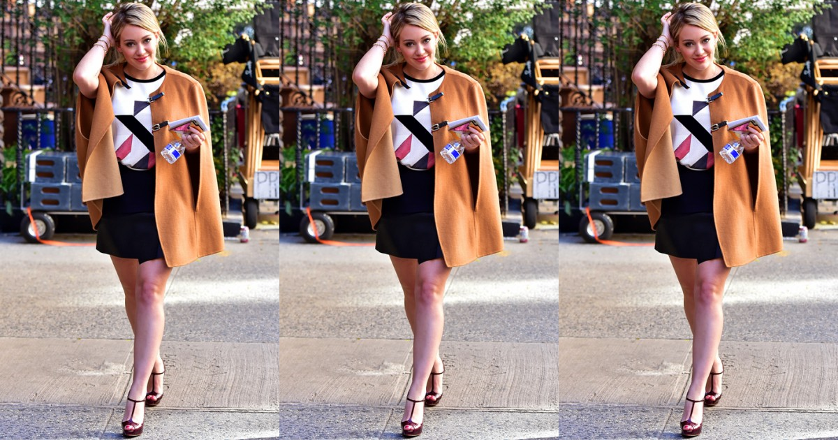Hilary Duff on set of Younger TV