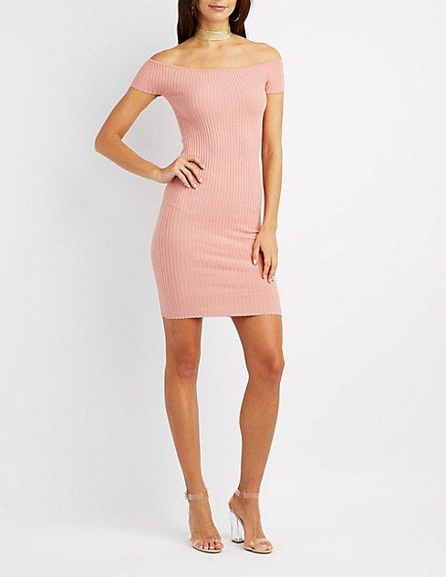 Ribbed Off-The-Shoulder Dress, $8 (ON SALE!)