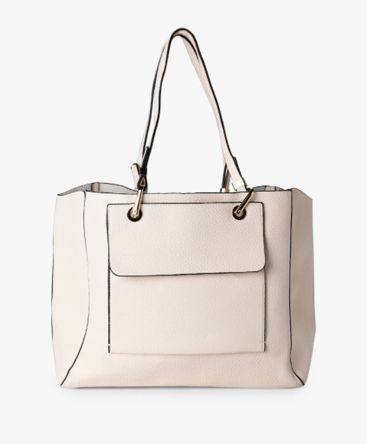 Faux Leather Tote Bag, $21