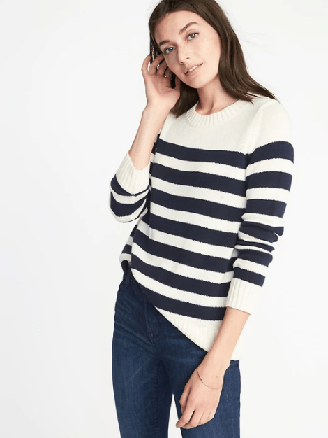 Striped Crew-Neck Sweater for Women, $22.97
