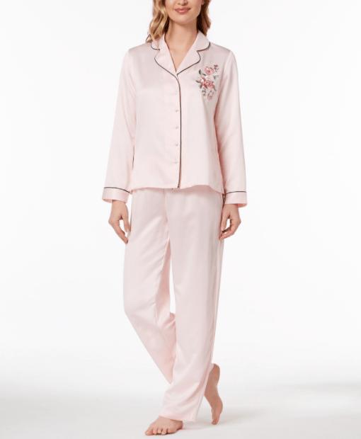 Rose-Print Woven Pajama Set, $39.98
