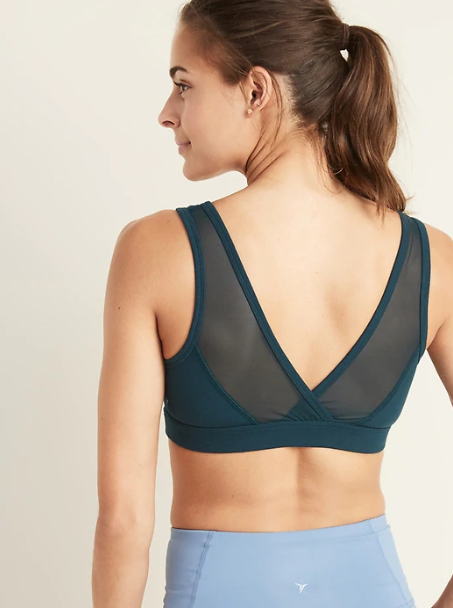 Light Support Mesh-Back Sports Bra for Women, $20