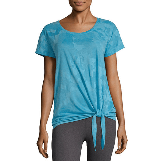 Xersion Studio Front Tie Tee, $7.99