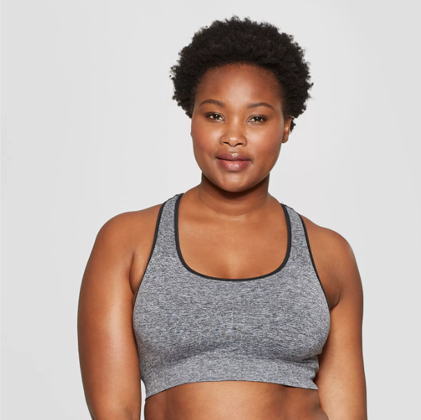 Women's Plus Size Seamless Racerback Sports Bra, $18.99