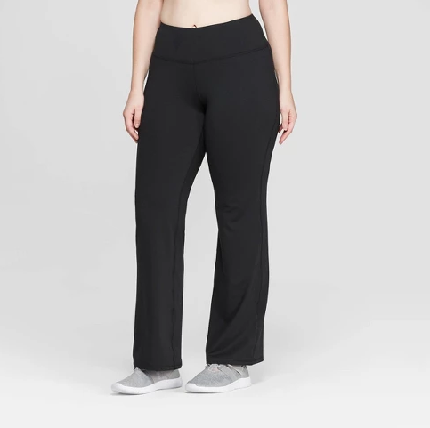 Women's Plus Size Everyday Mid-Rise Flare Pants, $26.99